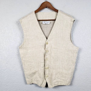 Gran Sasso Linen Vest Made in Italy L